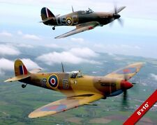 WWII PLANES SPITFIRE & HURRICANE BRITISH WAR HISTORY ART PHOTO REAL CANVAS PRINT
