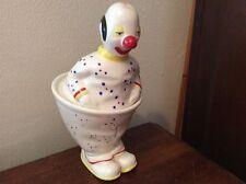 Extremely Rare Carlton Ware Lustre Pottery Circus Clown Preserve Pot - 1980