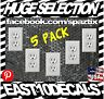 Electrical Outlet Stickers 5-Pack Prank Fake Joke Funny Custom Decal Sticker