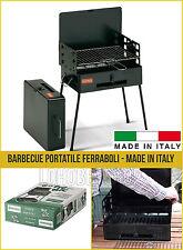 Barbecue Pic nic Ferraboli con griglia portatile pieghevole richiudibile valigia