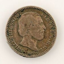 1889 Netherlands 10 Cent Coin (F) Fine Condition