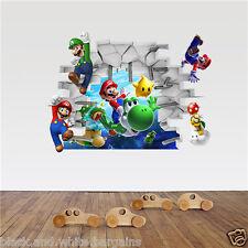 Super Mario Luigi Wall Sticker Decal Removable Home Nursery Decor