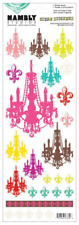 Hambly Studios Chandelier Clear Stickers, Art, Craft, Decor, Wrapping, Cards
