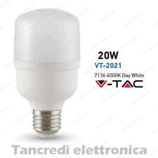 Lampadina led V-TAC 20W = 135W E27 bianco naturale 4000K VT-2021 bulb tubolare