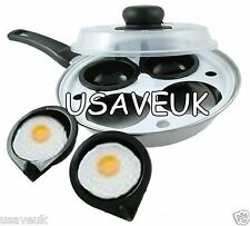 4 Hole Egg Poacher With Clear Lid Poaching Pan Poached