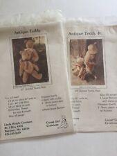 "12"" & 27"" Jointed Antique Teddy Bear Pattern Linda Garrison Goose Girl Creations"