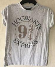 Ladies Hogwarts Express White T Shirt Size 8 (Harry Potter).