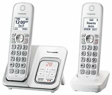 Expandable Cordless Phone w/ Call Block and Answering Machine 2 Handsets Home