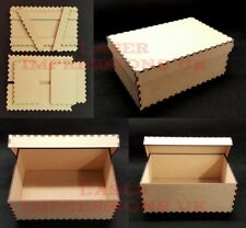 Memory, Christmas or Keepsake Box with Lid 3mm MDF Make and Decorate Yourself