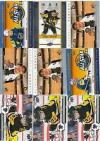 SIDNEY CROSBY  a lot of 9  CARDS INSERTS   LOT 80    near mint    a