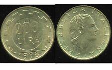 ITALIE   ITALY  200 lire 1998