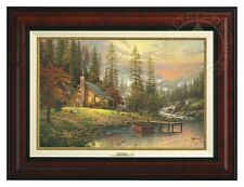 Thomas Kinkade - A Peaceful Retreat – Canvas Classic (Burl Frame)