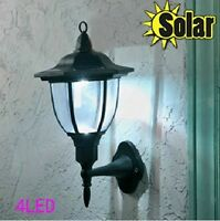 Solar Outdoor 4LED Bright Wall Mount Garden Path Pathway yard Garden Light D097