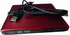 NEW Red USB 3.0 External Blu-ray Drive Player CD DVD RW for Laptop/Macbook PC