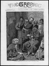1878-antica stampa militare SHERE ALI British viceré che indica la scrittura (019)