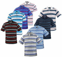 Mens T Shirts Yarn Dyed Strip PK Polo Shirt Pocket Tops Multi-Color Sizes M-2XL