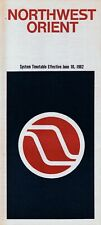 Northwest Airlines Timetable  June 10, 1982 =
