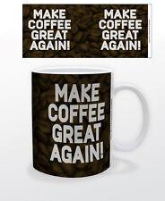 MAKE COFFEE GREAT AGAIN 11 OZ COFFEE MUG POLITICS USA DONALD TRUMP FUNNY AMUSING