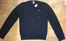 NWT Hollister Navy Men's V-Neck Sweater XL