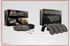 Ceramic Front Brake Pads with Hardware & Rear Brake Shoes Fits Nissan Pathfinder