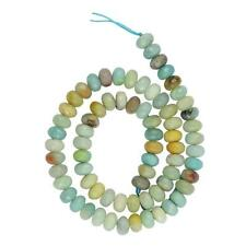 "Amazonite Beads Gemstone 15.5"" Strand Faceted Rondelle 5x8mm Jewelry Charms"