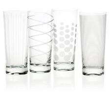 4er SET Trinkgläser CHEERS CRYSTAL MIKASA Glas 500ml mit Muster Creative Tops
