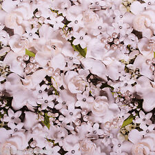1.5m Roll ALL IN WHITE FLOWER Wedding Birthday Party Gift Wrap Wrapping Paper