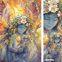 "24W""x36H"" THE FAIRY'S FAIRY by JOSEPHINE WALL - FANTASY ANGEL BUTTERFLIES CANVAS"
