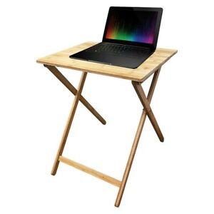 My Home Folding Bamboo Table