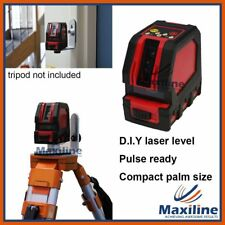 Pocket Palm Cross Line Laser Level Floor Laser with Wall Mount & Pouch Bag