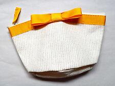 L'OCCITANE PICCOLA PANNA cosmetici Bag con fiocco Giallo Decorazione Nuovo