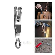Mini EDC Gear Pocket Suspension Clip Hanger Tool w Key Ring Keychain Keyfob Clip