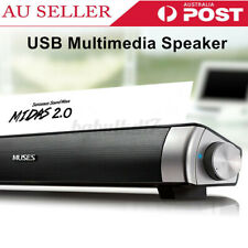 USB Multimedia Audio Stereo Sound Bar Soundbar Speaker For Computer Laptop PC AU