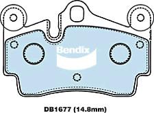 Brake Disc Pad Set  Bendix DB1677 4WD For AUDI Q7 4LB PORSCHE CAYENNE VW TOUAREG