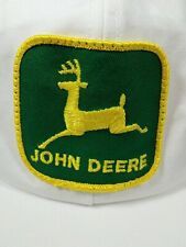 Vintage John Deere Big Patch Trucker Hat Cap 70s 80s K PRODUCTS RARE White
