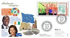 "PE713 FDC EP ""HEINE, Marshall Islands / OUATTARA, Ivory Coast / TRUMP, USA"" 2017"