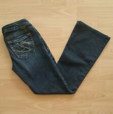Silver Women's Tuesday Boot Cut Jeans Tag Size 28 Blue Dark Wash