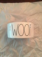 New Rae Dunn for Magenta Farmhouse WOOF Large Letter Dog Feed/Water Bowl