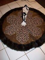 Donna Salyer's Fabulous Fur~Rare Luxurious Large Faux Fur Christmas Tree Skirt