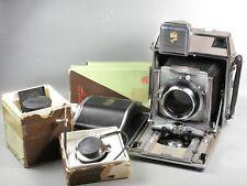 """Linhof Super Technika IV """"B"""" 6x9 Kit w/ 3 lenses, 120 roll back, etc."""