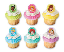 Princesses 24 Cupcake Rings cake Toppers Birthday Favors Prizes Decorations