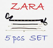 ZARA New with Tags 3 Chokers & 2 Chains 5pcs Set Lobster Claw Clasp New Hot GIFT