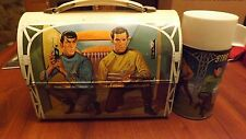Vintage 1968 Star Trek Dome Lunchbox with Thermos. Great shape Rare!!
