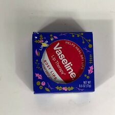 New Vaseline Lip Therapy Rosy Lips & Healthy& Shiny (0.6 Oz) 1 Tin Jar