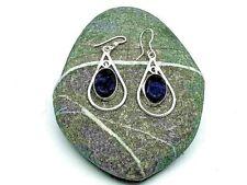 Purple Amethyst Silver plated Drop Dangle Earrings Hook Fastening  Teardrop New