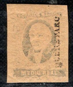 MEXICO Stamp ½r HIDALGO Medio Real 1856 Unused Querétaro ex Collection PURPLE82