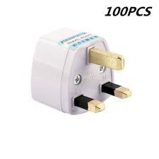 100x Universal Travel US USA AU EU to  UK 3 Pin AC Power Connector Plug Adapter