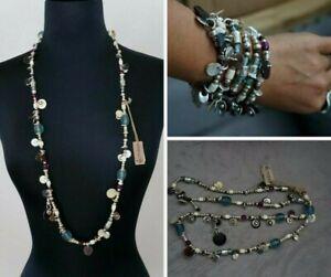 Nwt Uno De 50 Colorful Murano Esmeralda Long Short Necklace Wrap Bracelet RP$330