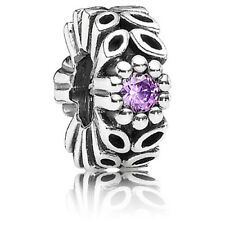 "Genuine Pandora ""Sparkling Forest"" Purple Flower Spacer  - 791224CFP - retired"