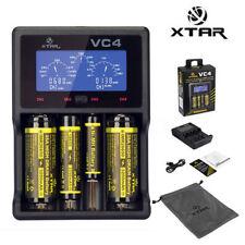 XTAR VC4 Batterie Piles 18650 26650 Chargeur Li-ion LCD USB Torche + câble USB
